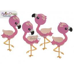 Süße Flamingos Füllstichmotive