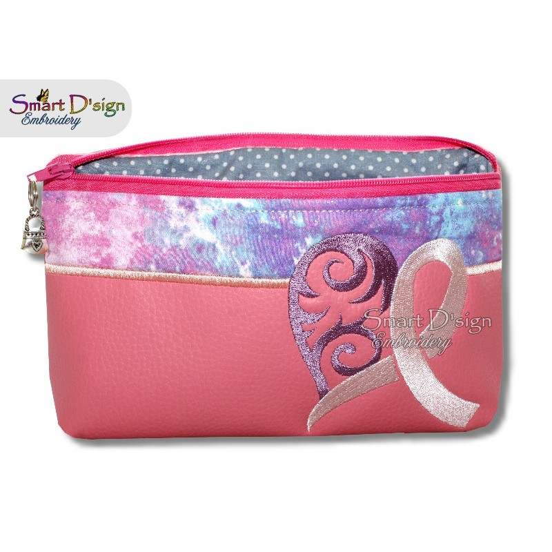 ITH Cancer Ribbon Cosmetic Bag