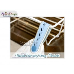 7x Towel Hanger Loops 2 Versions ITH 4.75x4.75 inch
