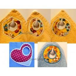 5x Einfache Handtuch-Ösen ITH 10x10 cm