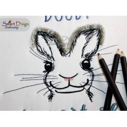 JaDi Doodle Hase Fransenstickerei