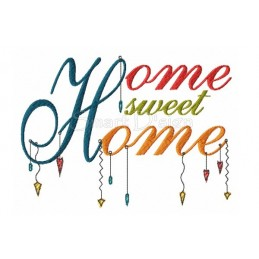 HOME SWEET HOME Romantischer Dangle Spruch 13x18 cm