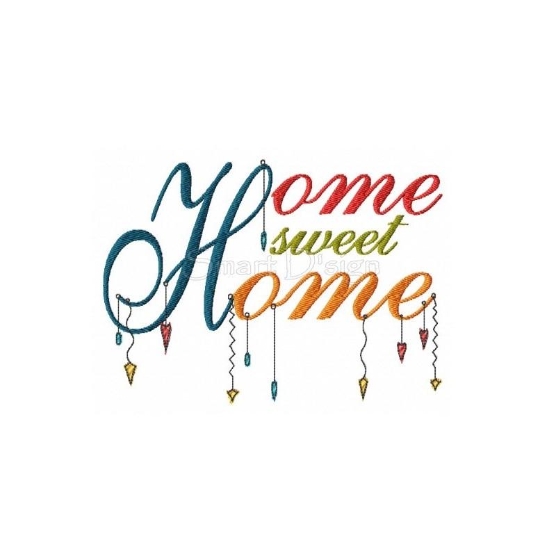 HOME SWEET HOME Romantic Dangle Saying 5x7 inch