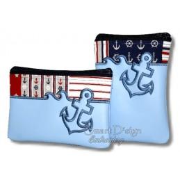 ITH 5x ANCHOR Silhouette Zipper Bags 4 Sizes