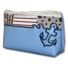 ITH 5x ANCHOR Silhouette Zipper Bags 4 Sizes