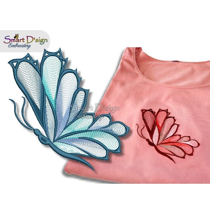 Schmetterling Spiralstich 13x18 cm