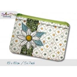 ITH Quilt Zipper Bags Daisy Applique