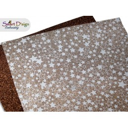 PACK 4 Sheets - GOLD STARS - Glitter Vinyl