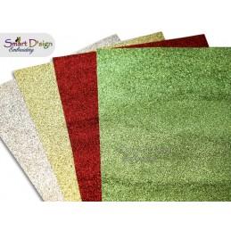 PACK 4 Sheets - GLITTER CHRISTMAS - Glitter Vinyl