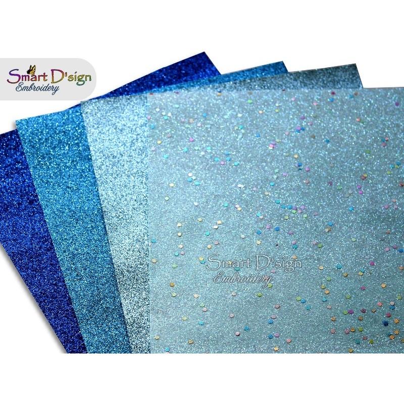 PACK 4 Sheets - BLUE HOUR - Glitter Vinyl