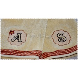 26 Embossed Alphabet Letters 4x4 inch
