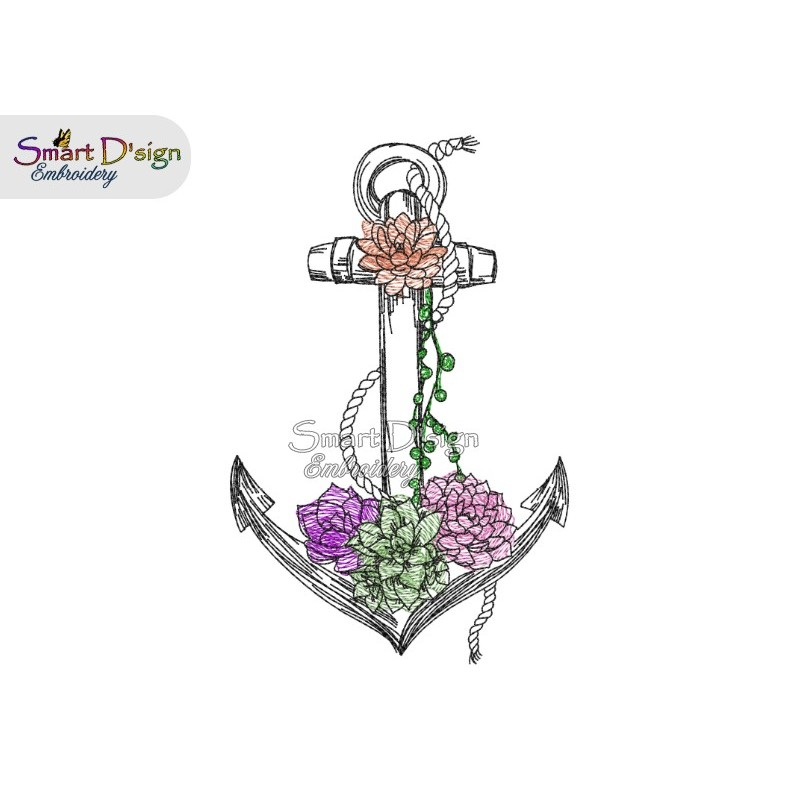 ANCHOR Succulents Doodle Outline