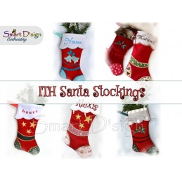 9 Santa Stockings ITH
