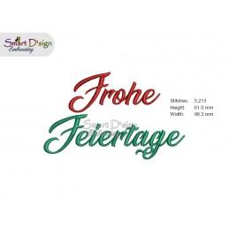 FROHE FEIERTAGE 10x10 cm