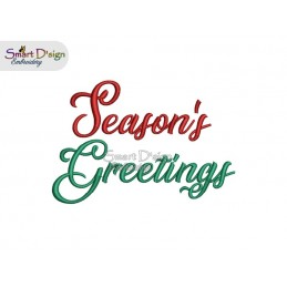 SEASONS GREETINGS 4x4 inch