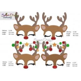 CHRISTMAS REINDEER 4x4 inch