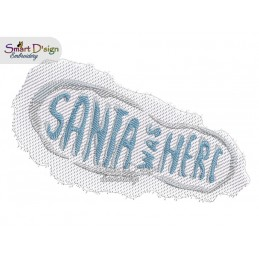 SANTA WAS HERE footprint 5x7 inch