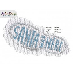 SANTA WAS HERE footprint 5x7 inch