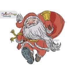 SANTA IS COMING 5x7 inch