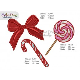 CANDY & BOW SET 4x4 inch
