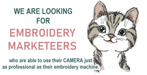 Embroidery Marketeers wanted